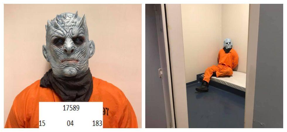Norwegian police arrest the 'Night King' (Photo: Facebook\Politiet i Trondheim)