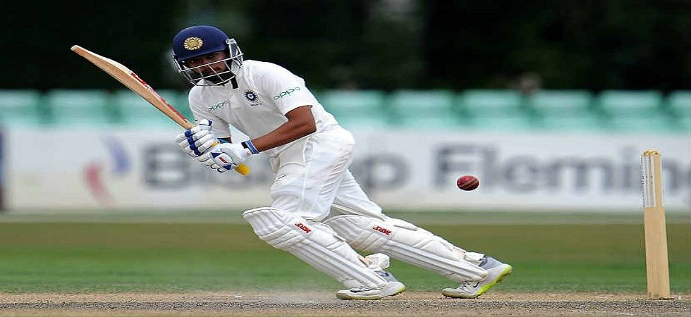 Prithvi Shaw could reportedly play County Cricket in order to prepare for the World Test Championship which will begin in July 2019. (Image credit: Twitter)