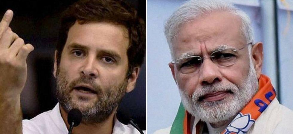Congress president Rahul Gandhi (Left), Prime Minister Narendra Modi (Right)