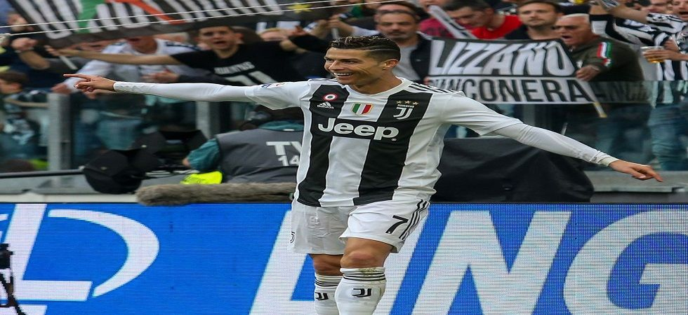 Ronaldo claimed his first Serie A title and Juventus their eighth in a row on Saturday (Image Credit: Twitter)