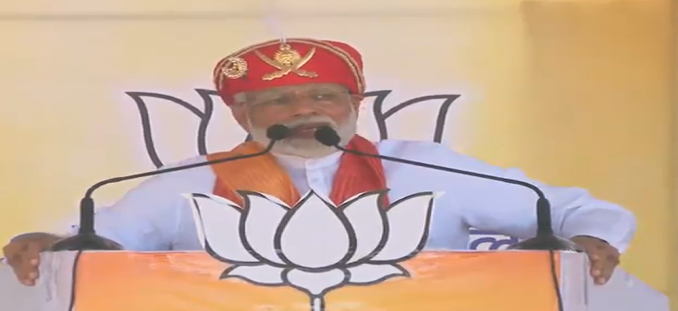 Prime Minister Narendra Modi in Chittorgarh (Photo tweeted by @BJP4India)