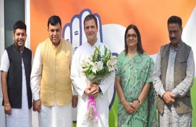 Set back for BJP as former Hamirpur BJP MP Suresh Chandel joins Congress