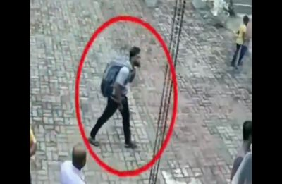 Watch: Suicide bomber caught on CCTV entering church in Sri Lanka