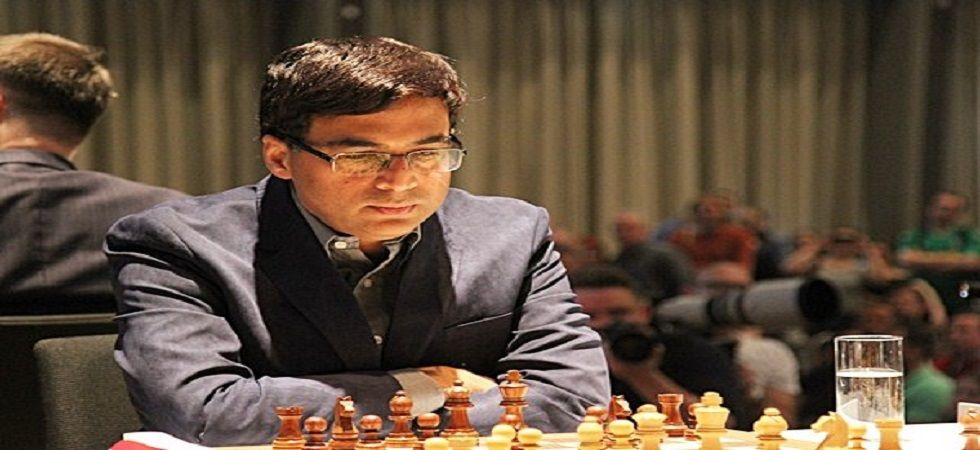 Viswanathan Anand played out a gritty draw against Magnus Carlsen and defeated Francesco Vallejo Pons to be in the joint-lead at the Grenke Chess tournament. (Image credit: Chessbase Twitter)