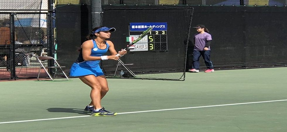 Ankita Raina achieved her biggest win of her career as she defeated former US Open champion Ankita Raina. (Image credit: Twitter)