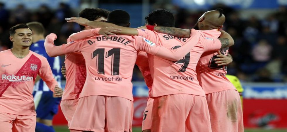 Barcelona have opened up a 12-point lead in the La Liga and will seal the title if Atletico Madrid lose. (Image credit: FC Barcelona Twitter)