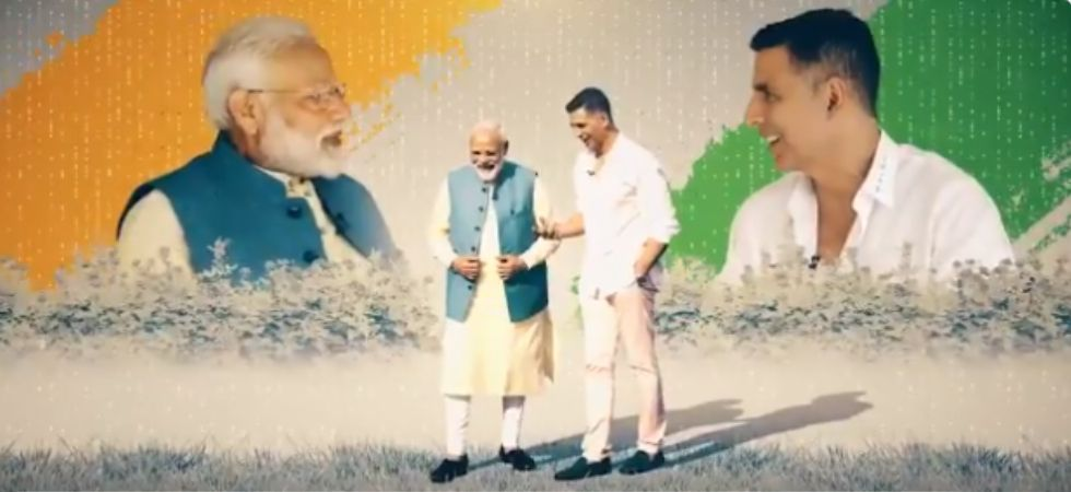 Bollywood star Akshay Kumar in a candid chat with PM Modi