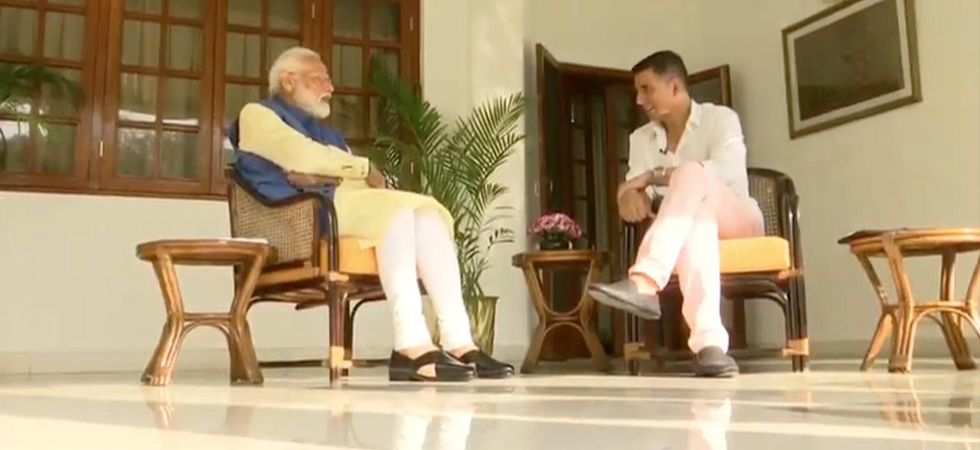 PM Modi shares some light moments with Bollywood actor Akshay Kumar