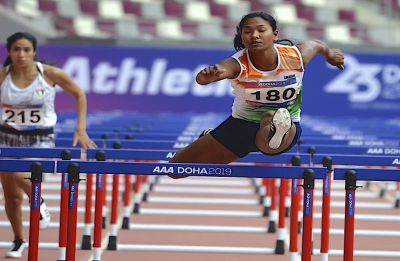 Swapna Barman settles for silver in heptathlon, Jinson pulls out of 1500m