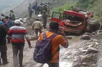 Five killed, nine injured as landslide hits mini bus in Jammu and Kashmir's Doda
