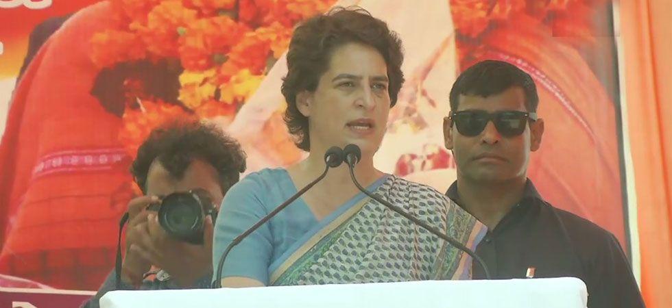 Priyanka Gandhi also termed PM Modi as 'Pradhan Prachar Mantri'. (Image Credit: ANI)