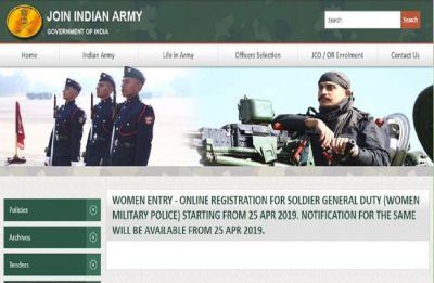 In a first, Army opens vacancies for women in military police role, registration begins today