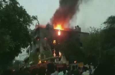 Massive fire breaks out at factory in Delhi's Shahdara, 26 fire tenders at spot