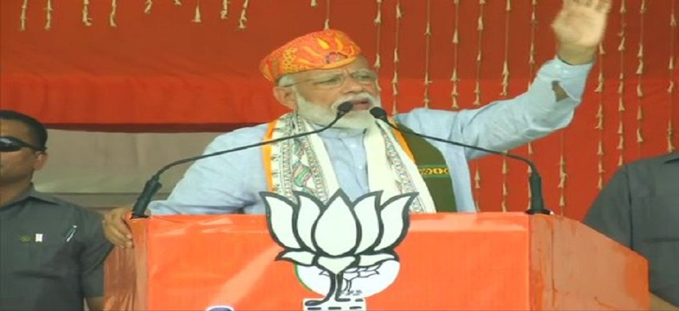 Modi mocked at regional satraps nursing prime ministerial ambitions by contesting only 40, 20 or even as in the case of Karnataka a mere eight Lok Sabha seats. (Photo: ANI)