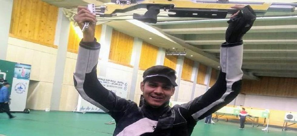 Divyansh Singh Panwar secured silver and the fourth Olympic quota in shooting during the ISSF World Cup in Beijing. (Image credit: Twitter)