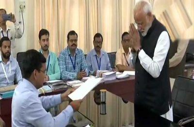 Accompanied by NDA top brass, PM Modi files poll nomination from Varanasi