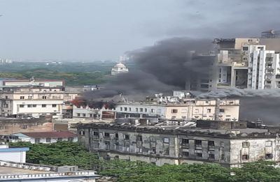 IN PICTURES | Kolkata: Fire breaks out at multi-storey commercial building in Exide More