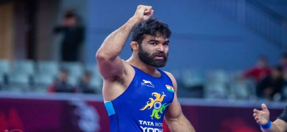 Gurpreet Singh lost 0-8 to Hyeonwoo Kim of Korea in the final of the 77kg Greco-Roman category. (Image credit: Twitter)