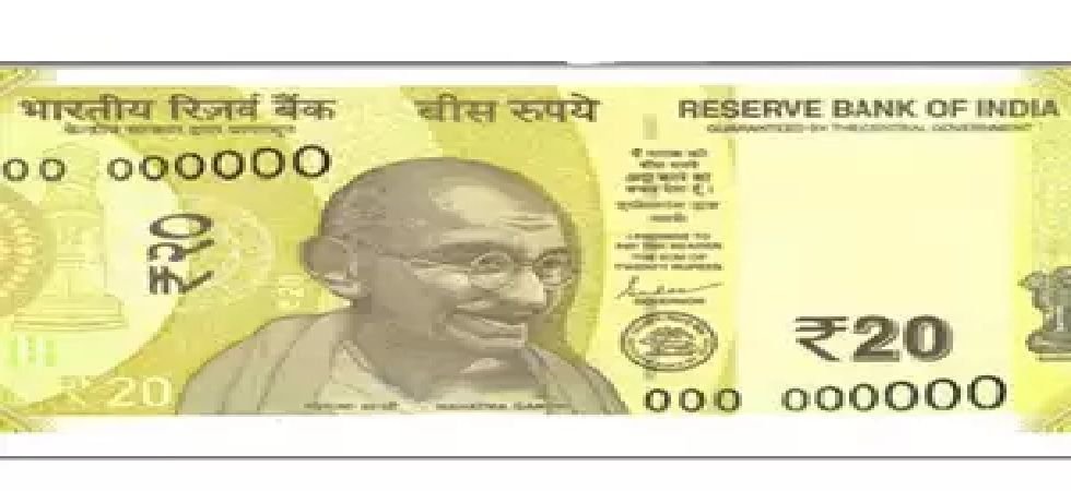 The note Rs 20 will bear signature of Governor Shaktikanta Das
