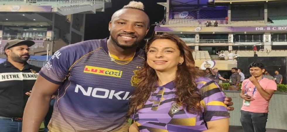 Andre Russell continued his magnificent exhibition of death-overs hitting to boost Kolkata Knight Riders. (Image credit: Twitter)