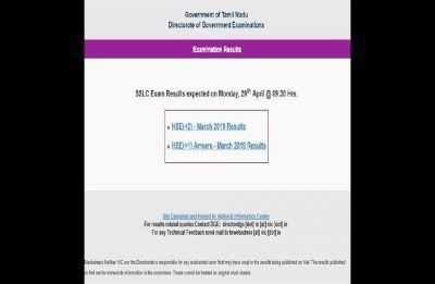 Tamil Nadu Board TN 10th SSLC Result 2019 LIVE NOW at tnresults.nic.in