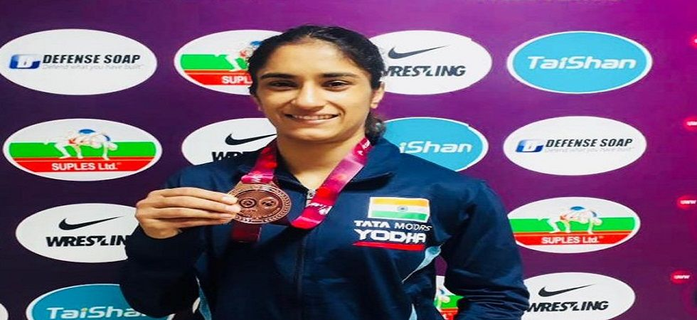 Vinesh Phogat and Bajrang Punia have been recommended for the Rajiv Gandhi Khel Ratna award by the Wrestling Federation of India. (WFI)