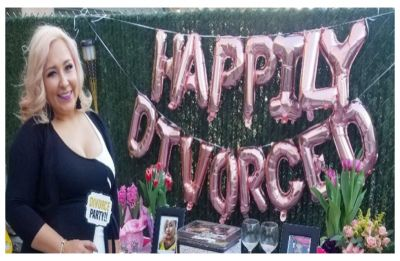 Happily Divorced! Woman throws luxury party after spending 15 years trying to get rid of husband