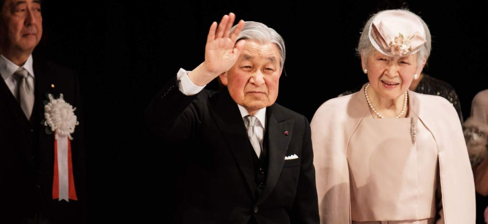 File photo of Japanese Emperor Akihito and Empress Michiko in Tokyo. (IANS file photo)