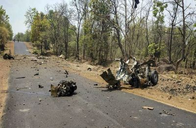 16 security personnel killed in IED blast by Maoists in Maharashtra's Gadchiroli