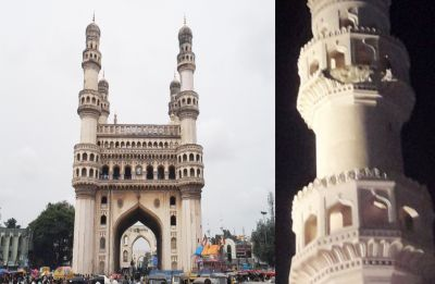Charminar, Hyderabad's iconic emblem, suffers damage as portion of stucco falls off