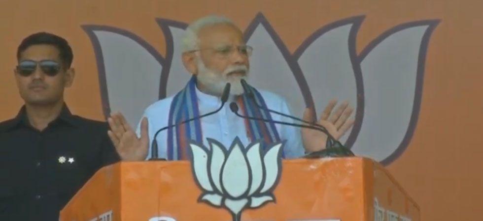 Prime Minister Narendra Modi during a rally in Uttar Pradesh's Prataphgarh on May 4. (Photo: Twitter/@BJP4India)