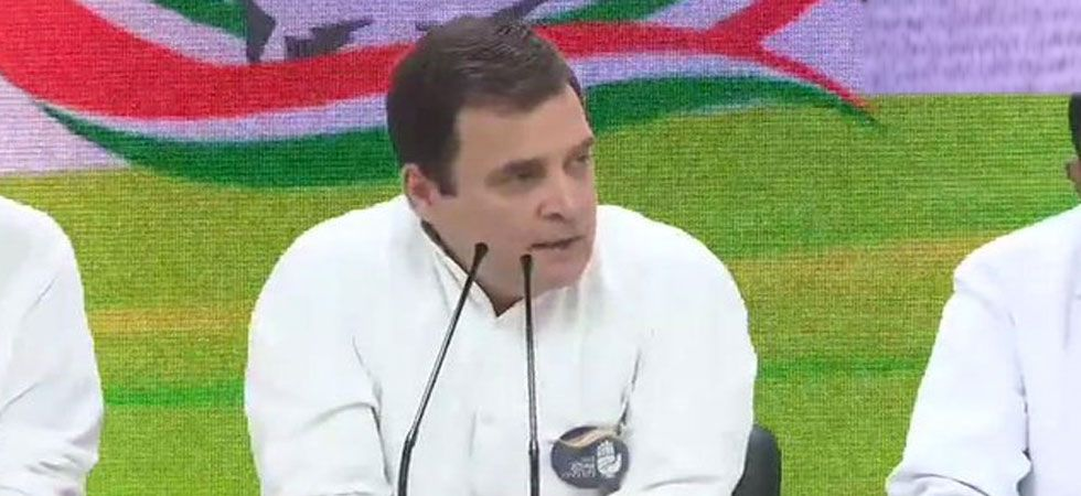 Congress president Rahul Gandhi during a press conference in Delhi on May 4 (ANI Photo)