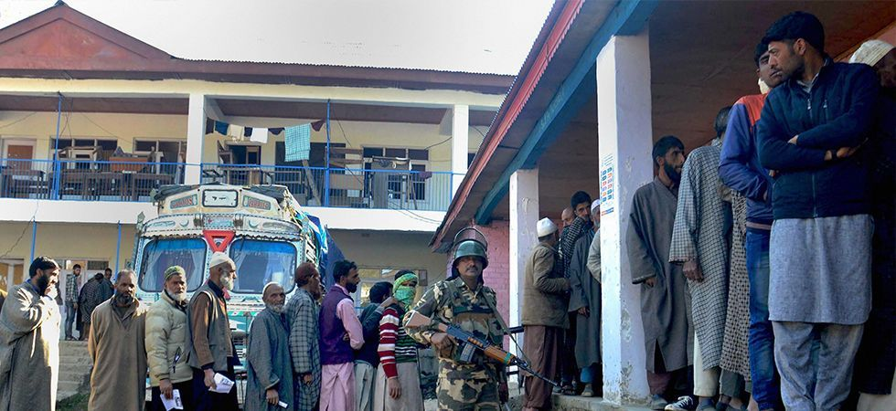 In Jammu and Kashmir, polling is taking place in Ladakh constituency and Pulwama and Shopian districts of Anantnag seat