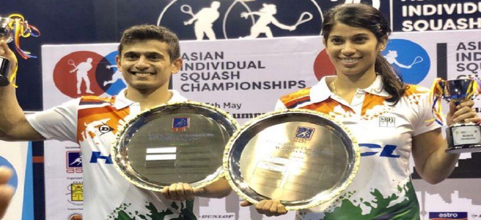 Joshna Chinappa and Saurav Ghosal won individual titles in the Asian Squash Championship. (Image credit: Joshna Chinappa Twitter)