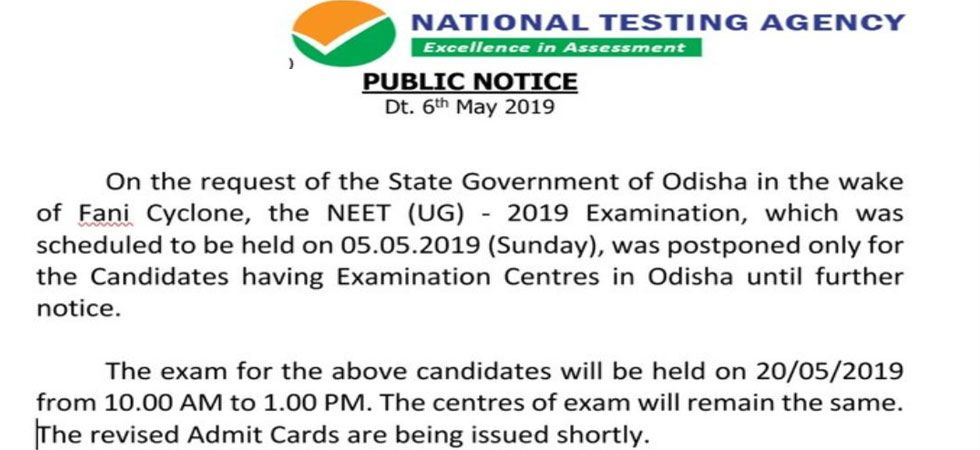 NTA said the centres of exam will remain the same.