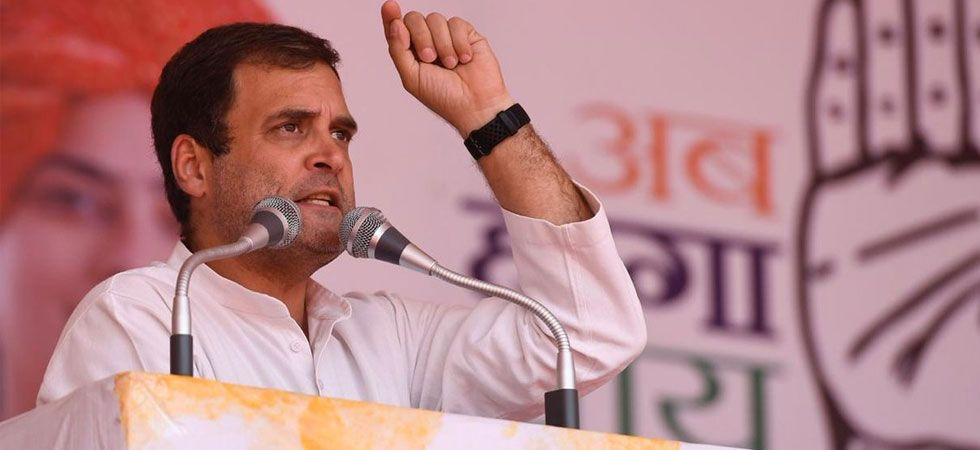 Congress chief Rahul Gandhi reiterated the alleged wrongdoings in the Rafale jet deal. Image Credit: Twitter)