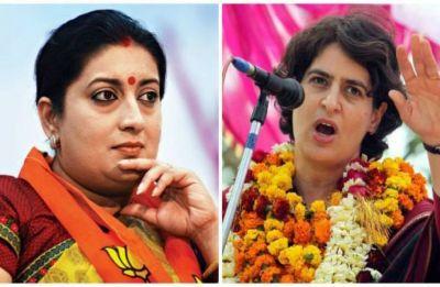 Priyanka Gandhi keeps taking my name more than her husband's, it's an accomplishment, says Smriti Irani