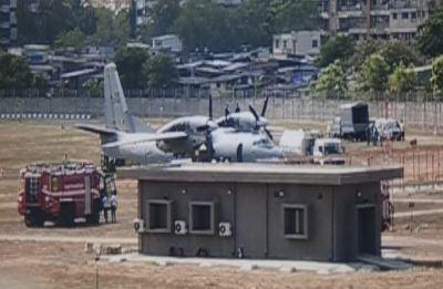 Indian Air Force's AN-32 aircraft overshoots runway at Mumbai airport, several flights delayed