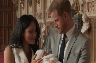 WATCH | Prince Harry, Meghan Markle appear in public with their new baby son for first time
