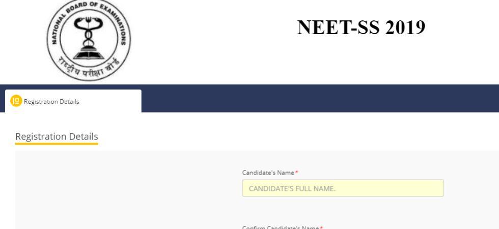 NEET-SS 2019 Application Forms.