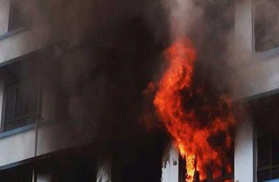 Massive fire breaks out at Indirapuram's Shakti Khand, children trapped inside flat