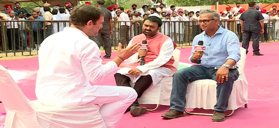 Congress president Rahul Gandhi during an interview to News Nation.