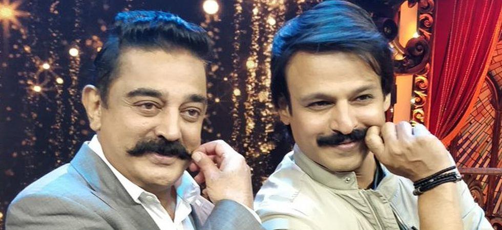 Vivek Oberoi (right) and Kamal Haasan (Photo: Twitter/@vivekoberoi)