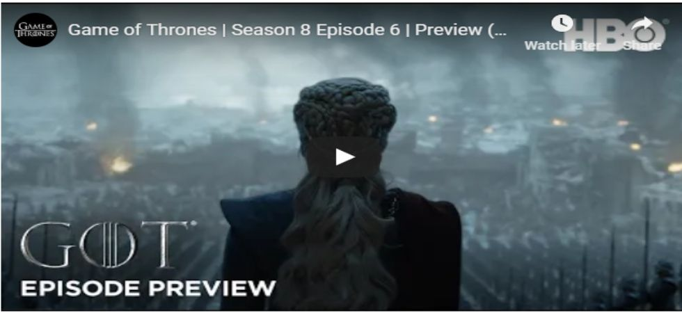 Game of Thrones Season Finale teaser out!