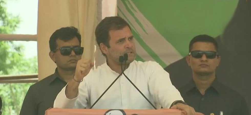 Rahul Gandhi in Neemuch (ANI Photo)