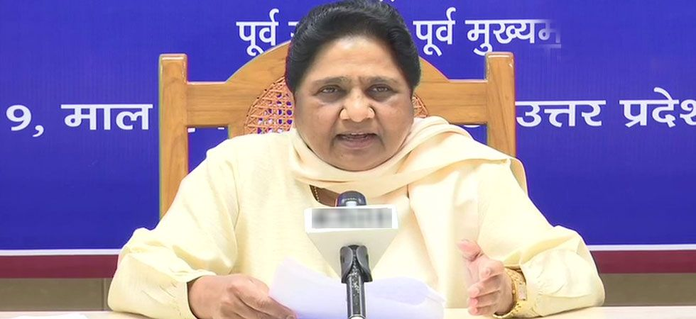 Mayawati repeated her caste swipe at Modi, calling him a