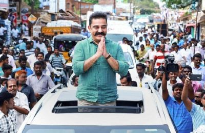 Chappals hurled at actor-turned-politician Kamal Haasan in Tamil Nadu