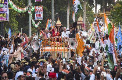 Priyanka Gandhi holds mega roadshow in Varanasi, mounts attack on Modi-led BJP dispensation
