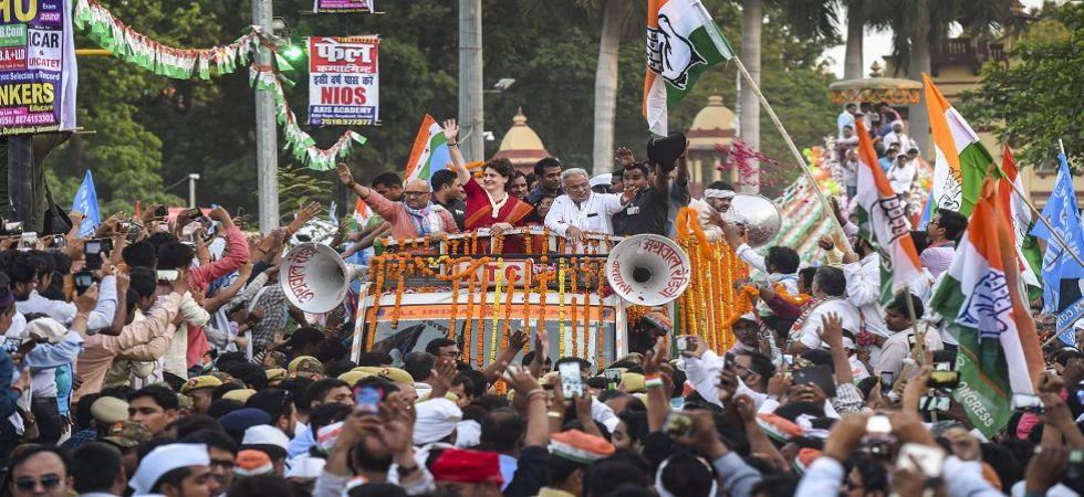 Priyanka Gandhi Vadra holds roadshow in Varanasi (Photo Source: PTI)