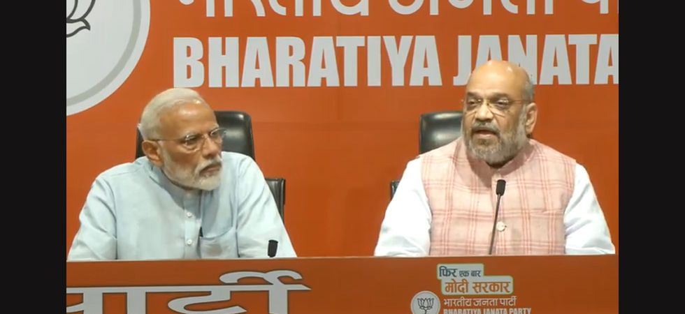 In first media event, PM Modi diverts questions to Amit Shah, says BJP will be back in power